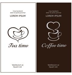Cofee time and tea time vector