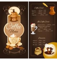 Coffee cafe menu vector image