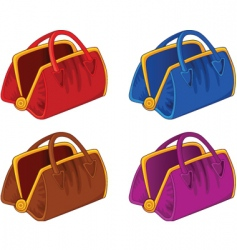 Color handbags vector