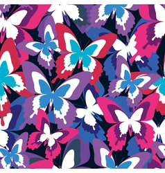 Colorful seamless pattern with butterfly vector