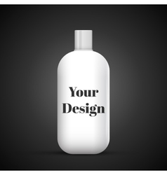 Cosmetic Or Hygiene Grayscale White Gray Chrome vector image