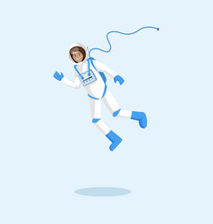 cosmonaut in spacesuit floating vector image