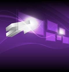 cursor click hi tech button vector image