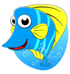 cute tropical butterfly fish vector image