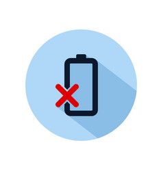 Damaged battery icon battery damaged power vector