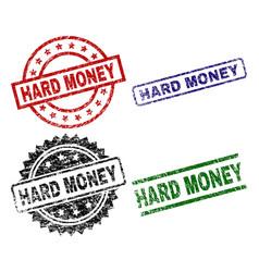 damaged textured hard money stamp seals vector image