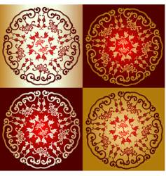 Decorative Oriental designs vector