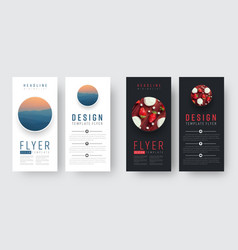 design flyer in a minimalist style with a round vector image