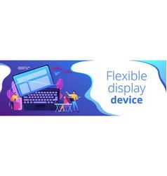 Detachable device technology concept banner header vector