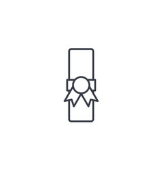 diploma thin line icon linear symbol vector image