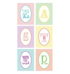 Easter monograms vector