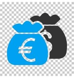 Euro Money Bags Icon vector