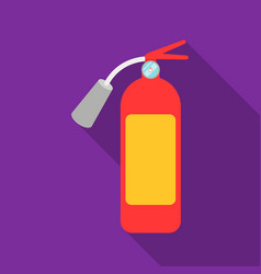 fire extinguisher icon flat single silhouette vector image