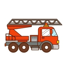 Fire truck isolated on white background vector