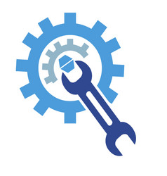 Gear wrench logo vector