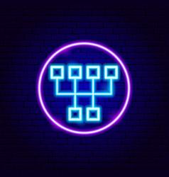 gearbox neon sign vector image