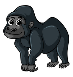 gorilla with happy face vector image