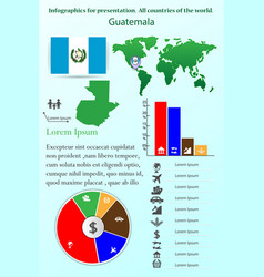 guatemala infographics for presentation all vector image