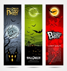 Halloween banners set design vector