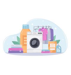 Laundry cartoon background vector