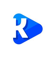 logo letter k triangle vector image