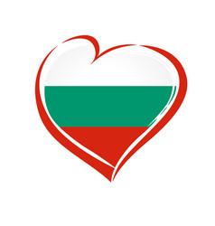 love bulgaria emblem colored vector image