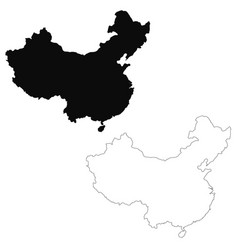 Map china isolated black on vector