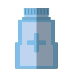 Medicine bottle pill capsule healthcare shadow vector