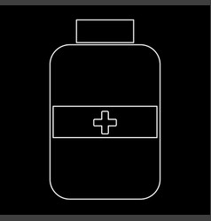 Medicine bottle the white path icon vector
