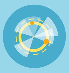 modern digital pie diagram icon vector image vector image