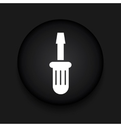 modern screwdriver black circle icon vector image