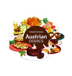 National austrian food desserts drinks vector