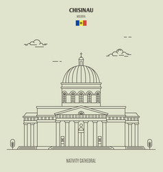 nativity cathedral in chisinau vector image