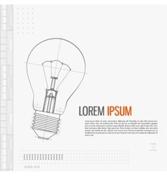 Of lightbulb isolated on gray vector