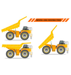Off-highway truck with different body position vector