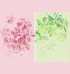 Orchids - Beautiful pastel colored design vector image