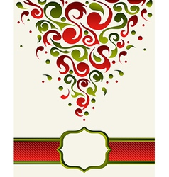 Ornate christmas gift card backgound vector