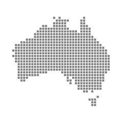 Pixel map of australia dotted map of australia vector