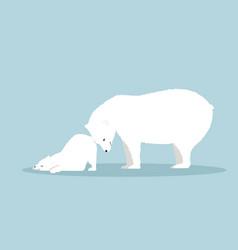 Polar bear with cub vector