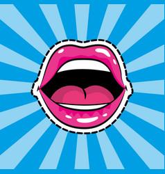 pop art comic cartoon vector image
