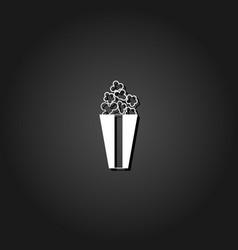 popcorn icon flat vector image