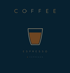Poster coffee espresso vector