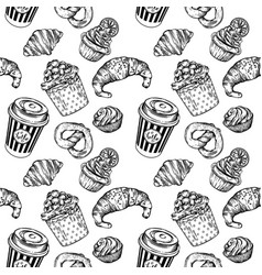 Seamless prints coffee and baking prints vector