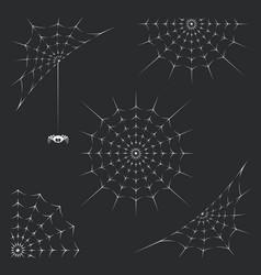 set of spiderweb vector image