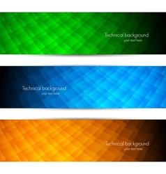 Set of tech banners vector image