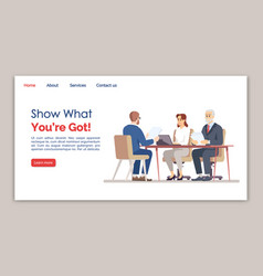 Show what you are got landing page template vector