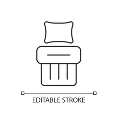 single bed set linear icon vector image