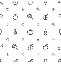 Snack icons pattern seamless white background vector