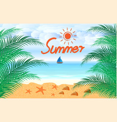 Summer holidays beach seashore background vector