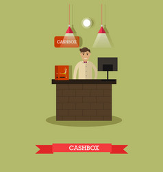 Ticket office and cashier vector